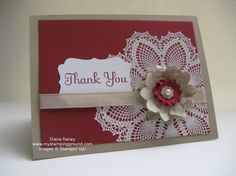 love this color combo. the white completes the card
