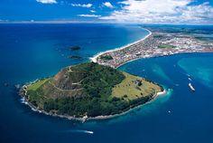 Mount Maunganui & Tauranga Harbour, North Island, New Zealand
