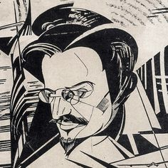 Cubo-futurista retrato de Leon Trotsky (Yuri Annenkov, 1922)
