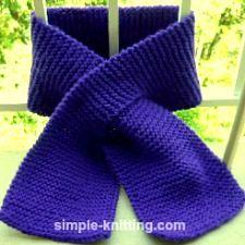 Keyhole Scarf Pattern - How to Knit a Keyhole