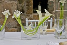 Jeff Leatham style; white calla's and iris