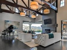 Britney Spears' California Mansion Is Giving Us Serious Real Estate FOMO | THE GREAT ROOM | Ideal for indoor-outdoor living, this spectacular space not only offers amazing views but a cozy yet grand environment to relax and entertain.