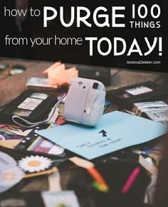Are you ready to purge but don't know where to start? Read these specific action steps on how to purge 100 iems from your home (all in about an hour! Adhd And Autism, Adhd Kids, Adhd Symptoms, Clutter Control, Organization Skills, Adult Adhd, Aspergers, Good To Know, To My Daughter