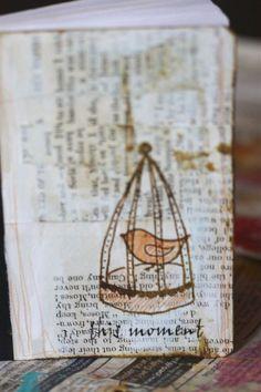 Altered composition book cover, mini tutorial! - Shona Cole