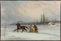 Habitants Sleighing, c. 1855 Krieghoff