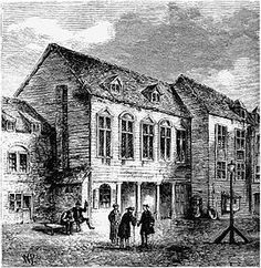 The first Marshalsea prison in the 18th century.  LocationSouthwark, London