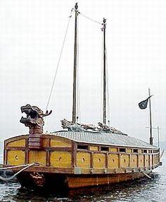 Anatomy of a Korean Turtle Ship: Wooden Model Boats, Wooden Boats, Chinese Boat, Turtle Ship, Old Sailing Ships, Sailing Catamaran, Viking Ship, Mystery Of History, Boat Stuff