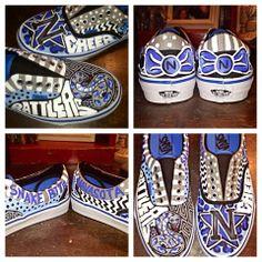 Navasota High School custom painted shoes!