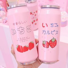 Aesthetic Food, Pink Aesthetic, Aesthetic Korea, Snacks Japonais, Thermal Flask, Pink Foods, Japanese Snacks, Japanese Candy, Pink Themes