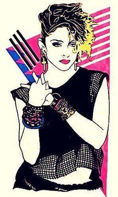 Madonna's Creations of the Week >> WEEK 17 - Madonna Art Vision Lady Madonna, Madonna Art, 1980s Madonna, Madona, Pop Art, Divas, The Pussycat, Pussycat Dolls, 80s Pop