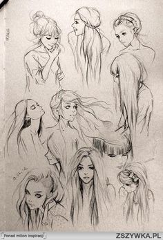 Hairstyles and expressions to master in drawing