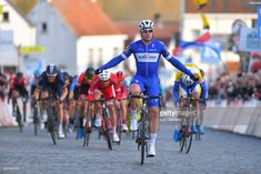 #NokereKoerse Arrival / Fabio Jakobsen of Netherlands and Team Quick-Step Floors / Celebration / during the 73rd Nokere Koerse - Danilith Classic 2018 a 191,1 km race from Deinze to Nokere on March 14, 2018 in Nokere, Belgium.
