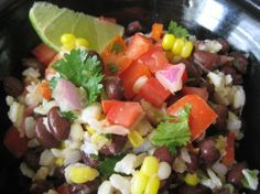 Baja Black Beans Corn and Rice Recipe  (6/13/2013) Food: Vegetable Main Course (CTS)