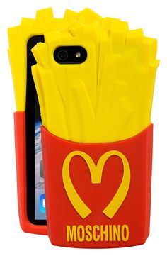 Moschino phone case for the fast food lover.