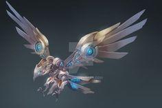 Élégant metal eagle by Étonnant metal eagle by Animal Robot, Robot Bird, Robot Dragon, Arte Robot, Art Cyberpunk, Cyberpunk Character, Robot Concept Art, Weapon Concept Art, Fantasy Beasts