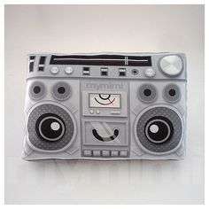 "Old School, Boombox, Music Pillow, Vintage Radio, 80's Music, Stereo, Hip Hop, Throw Pillow, Cushion, Dorm Decor, Disco, Dance Party, 9 x 6""..."