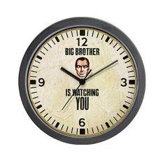 1984 Orwell - Big Brother Wall Clock
