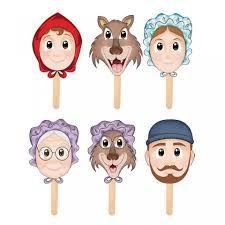 Resultado de imagen de personajes cuento caperucita roja Red Riding Hood Story, Little Red Ridding Hood, Pre K Activities, Kids English, Book Week, Conte, Puppets, Paper Dolls, Diy And Crafts