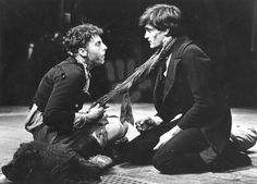 THE LIFE AND ADVENTURES OF NICHOLAS NICKLEBYby Charles Dickens R.S.C. - Aldwych Theatre 1981David Threlfall as Smike and Roger Rees as Nicholas