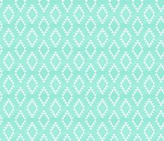 Aztec Crosshatch Mint by leanne, click to purchase fabric