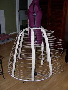 A Narrow Wire Cage Crinoline