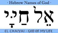 El Chaiyai Hebrew. God of My Life