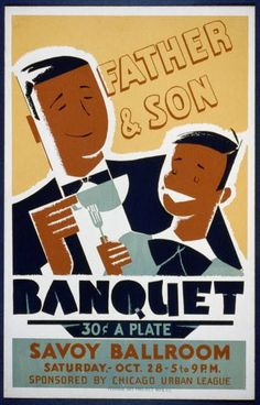 1940-Chicago Urban League Father and Son banquet at the Savoy