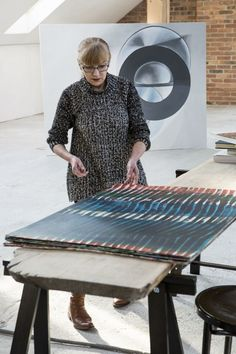 Janina Wierusz-Kowalska, W Pracowni, Art Workshop, fot. Workplace, Workshop, Abstract, Art, Craft Art, Atelier, Summary, Office Workspace, Kunst