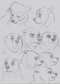 Discover recipes, home ideas, style inspiration and other ideas to try. Animal Sketches, Animal Drawings, Drawing Sketches, Art Drawings, Disney Sketches, Disney Drawings, Disney Concept Art, Disney Art, Bear Sketch