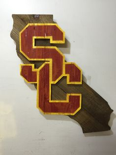 USC Trojans California Sign by MacDonaldsCreations on Etsy
