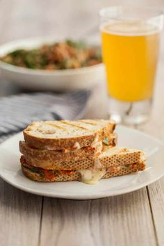 Harissa + Avocado Grilled Cheese Sandwich ; vegetarian
