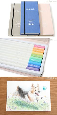 Perfect for collectors, the Irojiten is a luxurious and complete color pencil collection with an outstanding look and feel. The pencils are packaged in book-like cases that make the set look like an elegant color encyclopedia.