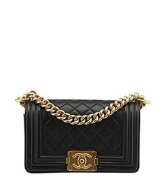 Amazon.com  CHANEL Le Boy Bag Black Quilted Lambskin Gold Metal A67085   Shoes af4e3f48266eb