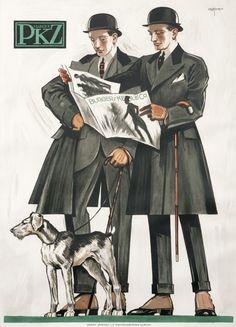 PKZ (men with dog) by Krotowski, Stephan | Shop original vintage #posters online: www.internationalposter.com.