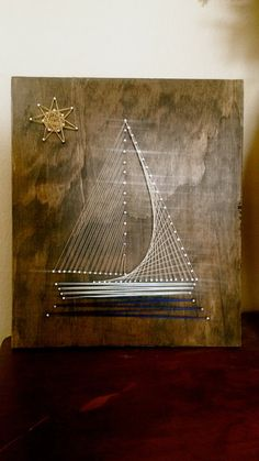 Sailboat String Art by CherishbyNT on Etsy