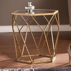 Harper Blvd Judy Geometric Gold Accent Table