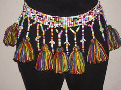 Mama Africa Dance Belt (Reserve Listing for C. African Dance, African Art, Dance Belt, Fabric Jewelry, Diy Jewelry, Jewellery, African Textiles, Tribal Fusion, Belly Dancers