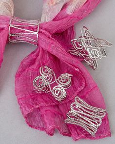 Open wire scarf jewelry! #scarves #scarf jewelry