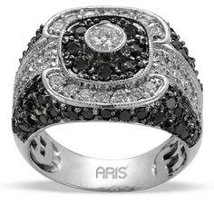 Black Diamond Ring For Men by Aris Diamond 'Boris' Gold And Silver Rings, Black Rings, Fashion Rings, Fashion Jewelry, Ring Watch, Black Diamond, Diamond Jewelry, Antique Jewelry, Fashion Accessories