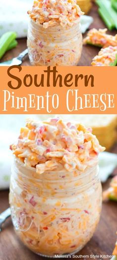 Whether you're hosting a casual bbq or serving appetizers for special holiday parties, Southern Pimento Cheese makes a quick and tasty addition to the menu. Dip Recipes, Low Carb Recipes, Appetizer Recipes, Appetizers, Cooking Recipes, Homemade Pimento Cheese, Pimento Cheese Recipes, Pimiento Cheese, Pimento Cheese Sandwiches