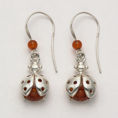 Ladybug Hook Earrings with Amber at theBIGzoo.com, a toy store featuring 3,000+ stuffed animals.