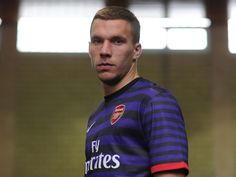 Lukas Podolski in Arsenal away kit by Stuart MacFarlane Arsenal Kit, Lukas Podolski, Goalkeeper, Polo Ralph Lauren, Product Launch, Victoria, Football, Sports, People