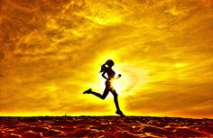 Silhouette of a girl runner effect films by Сергей Ковалёв on 500px