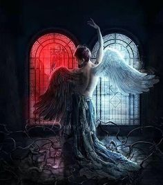 Explore the Dark Gothic collection - the favourite images chosen by on DeviantArt. Dark Gothic, Gothic Art, Dark Fantasy Art, Dark Art, Light Vs Dark, Gothic Angel, Ange Demon, Angel And Devil, Heaven And Hell