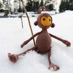 Little Knitted Monkey — Маленькая Вязаная Обезьянка (10sm)