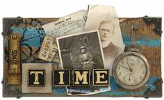 "Tim Holtz ""Time"" using Distress Crackle Paint"