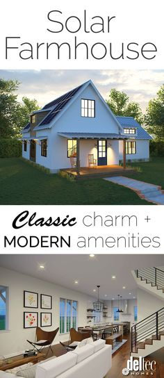 Deltec Homes' Solar Farmhouse - a modern take on a classic style!