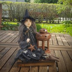 Witch - Art Doll - Fantasy Doll - Porcelain Doll - Artistic Doll  - Handmade - Doll - Fantasy - Whimsical - OOAK Doll - Witch Doll by Rustiikkitupa on Etsy