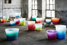 Alba Vases byMassimiliano Adamifor Serralunga. Material -rotational moulded polyethylene.