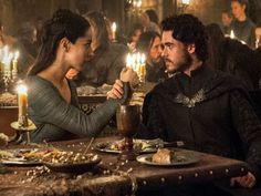 Just before the end...Talisa & Robb (S3, E9)